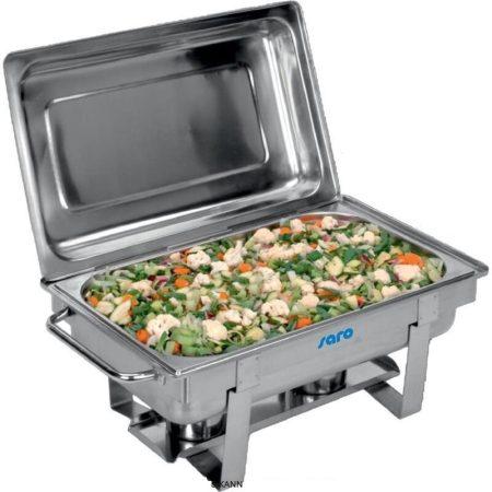 Chafing Dish melegentartó, rozsdamentes acél, 1 x 1/1 GN tartály