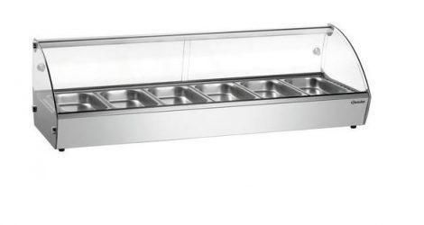 MARIE Melegentartó rozsdamentes acél, 6 x 1/3 GN tartályhoz