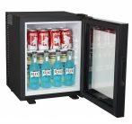 TOP26-LTG Szállodai hűtőszekrény minibár üvegajtóval A+ 26 L, szabadon álló és beépíthető funkcióval