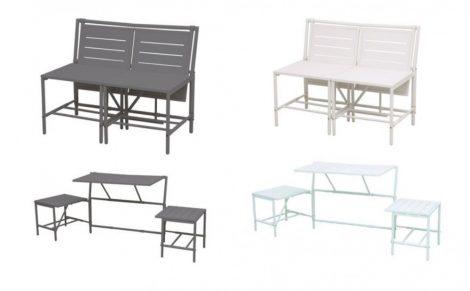 Multifunkciós pad komplett asztal szetté alakítható