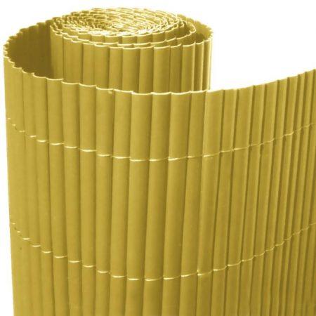 Belátásgátló szélfogó műnád PVC 300x150 cm sárga színben kerítés takaró tekercs