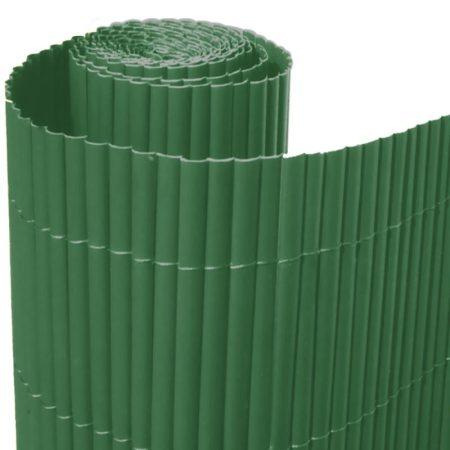 Belátásgátló szélfogó műnád PVC 300x150 cm zöld színben kerítés takaró tekercs