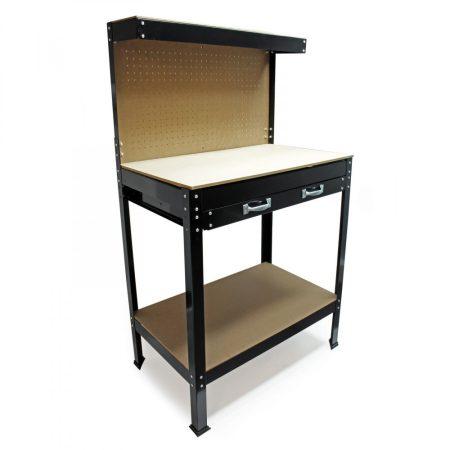 Munkaasztal fiókos kivitel könnyű, otthoni munkához. Barkácsasztal fiókkal 120x60x160 cm
