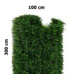 Erkélytakaró, kerítéstakaró belátásgátló zöld tűlevelű műsövény 300x100 cm korlát takaró háló élethű