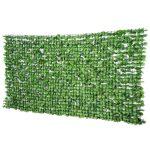 Erkélytakaró, kerítéstakaró belátásgátló zöld műsövény korlát takaró háló 300x150cm