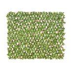 Vadászkerítésre futtatott műsövény belátásgátló 200x100 cm műnövény fal bel-és kültéri használatra