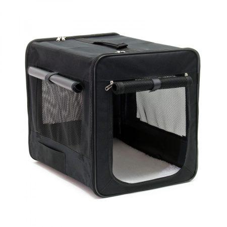 Kutyatáska összehajtható M méretű összecsukható hordozó táska kutya, cica számára kényelmes