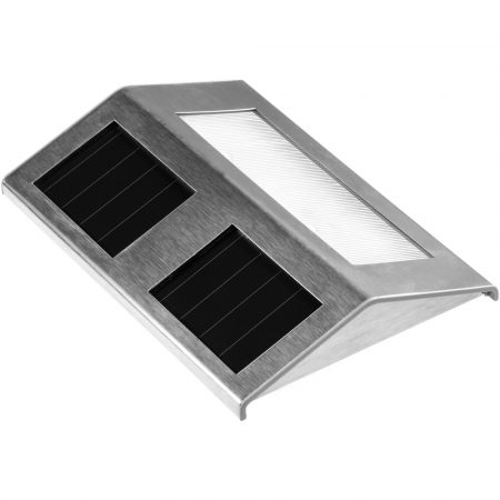 Napelemes lépcsőlámpa lépcső világítás rozsdamentes acél led Vízálló és madármentes kivitel