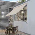 Designos falra szerelhető napellenző árnyékoló teraszra bézs színben 150-400 cm szélességig