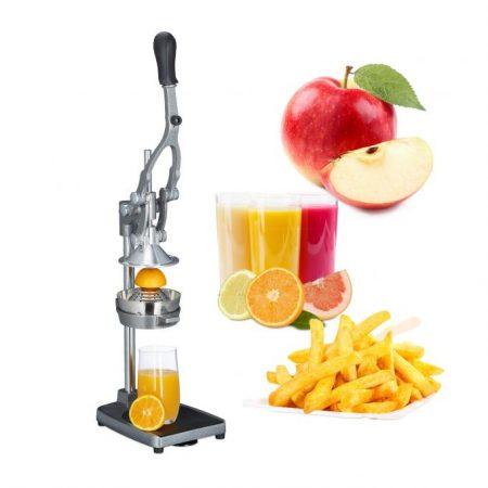 Narancsfacsaró profi kivitel narancsprés és alma szeletelő citrusprés rozsdamentes anyagból