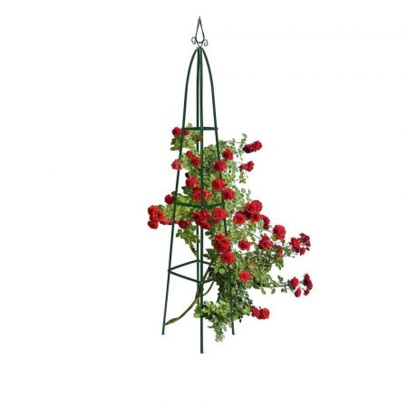 Növényfuttató rács obeliszk forma 200 cm magas csúcsos kivitel