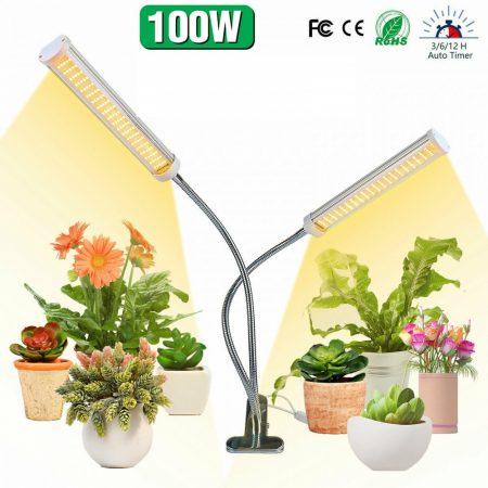 100W flexibilis csíptethető növény lámpa üvegház világítás ÁLLÍTHATÓ NAPFÉNY jellegű fénnyel