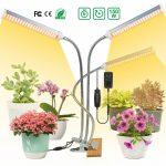 150W flexibilis három fejű csíptethető növény lámpa üvegház világítás ÁLLÍTHATÓ NAPFÉNY jellegű fénnyel tripla fejű asztali lámpa 3 x 50W