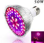 Üvegház világítás Növénylámpa növény nevelő LED 50W E27 foglalattal