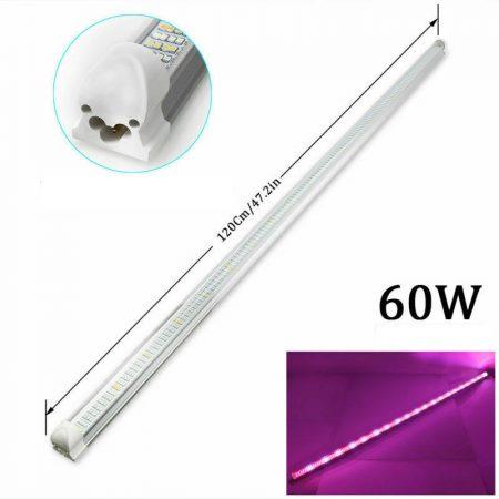60W növényvilágító fénycső 120 cm hosszú, növénynevelő lámpa adapterrel. Toldható.