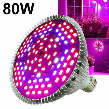 80W E27 Üvegház világítás Növénylámpa növény nevelő LED E27 foglalattal