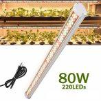 80W növényvilágító fénycső 52 cm hosszú, növénynevelő lámpa adapterrel.
