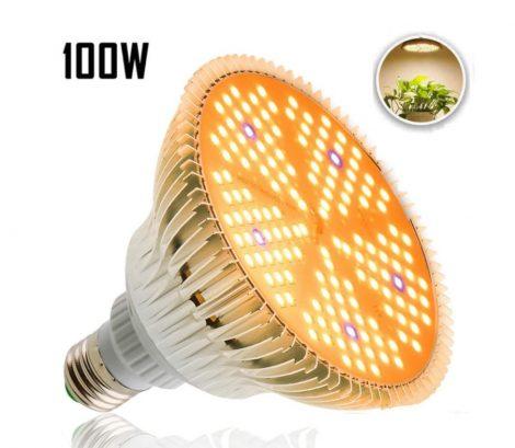 100W Növény lámpa Üvegház világítás NAPFÉNY jellegű fénnyel Virág nevelő UV és IR leddel E27