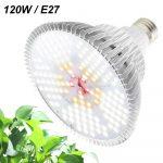 120W Növény lámpa Üvegház világítás NAPFÉNY jellegű fénnyel Virág nevelő UV és IR leddel E27