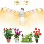 150W Növény lámpa Üvegház világítás NAPFÉNY jellegű fénnyel Virág nevelő 414 LED fény UV és IR leddel E27 foglalattal