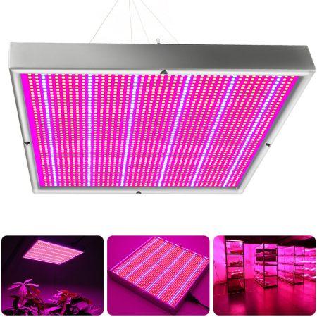 200W Növény lámpa Virág nevelő LED fény Ledes fényforrás 31x31x4 cm Melegház világítás, növénynövelő