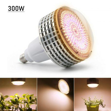 300W Növény lámpa Üvegház világítás NAPFÉNY jellegű fénnyel Virág nevelő UV és IR leddel E27