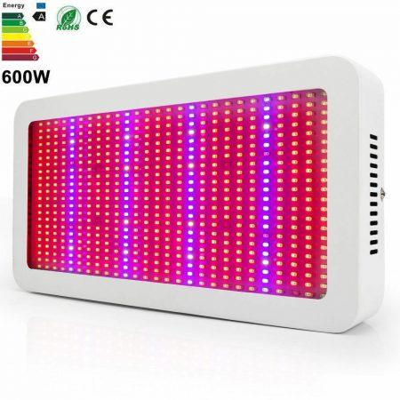 Növénylámpa Üvegház világítás növénynevelő LED fény 600W extra UV és IR leddel