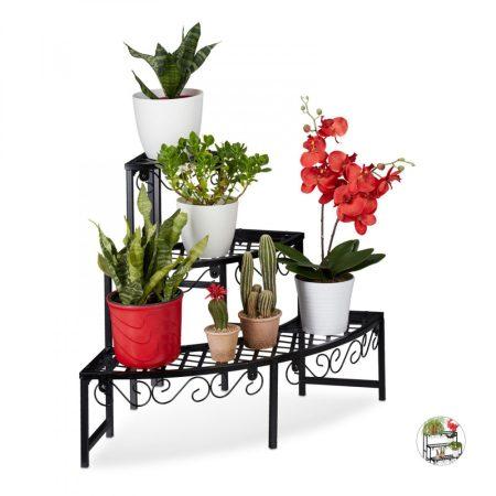 Virágtartó állvány növénytartó lépcsőzetes kültéri vagy beltéri polc