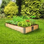 Fa kerti virág növény keret 120x80x19 cm összerakható növénytartó fakeret