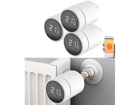 Intelligens radiátor termosztát 3 darabos szett alkalmazásvezérléssel hangvezérléssel