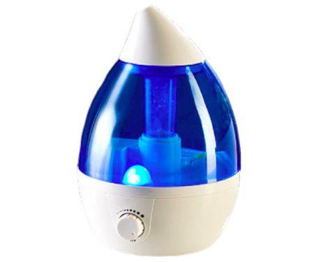 Párásító, aroma diffúzor, elektromos ultrahangos illóolaj párologtató 1200 ml kúpos fehé
