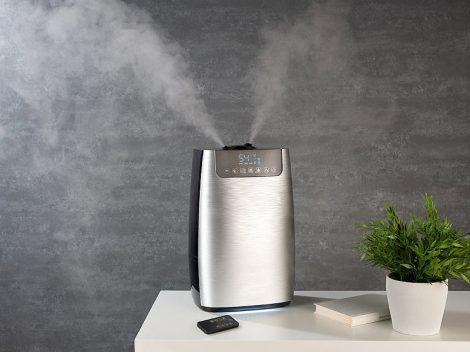 Párásító, aroma diffúzor illóolaj aromaolaj tartóval ultrahangos párologtató 5 literes, ionizál