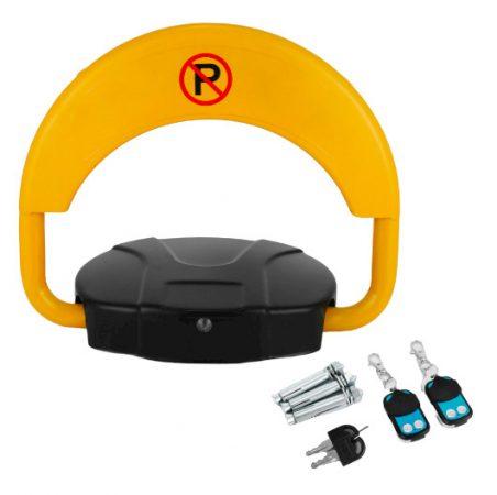 Parkolóőr elektromos, távvezérelhető, akkumulátoros, elektromos parkolásgátló 2 darab távirányítóval