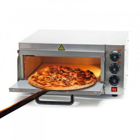 Ipari pizzasütő kemence rozsdamentes acél 2000W