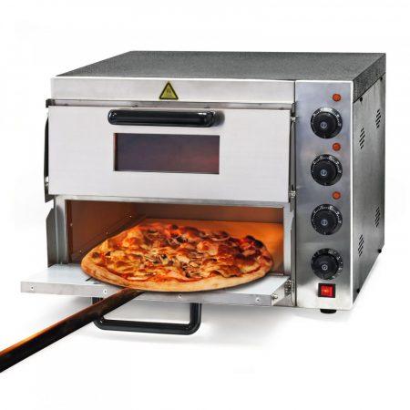 Kétszintes ipari pizzasütő kemence rozsdamentes acél 3000W