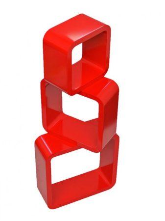 Kocka polc retro piros