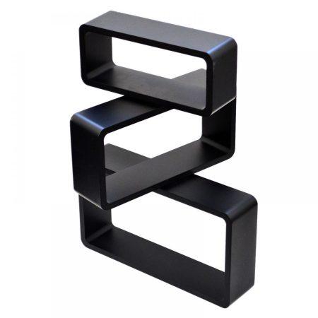 Kocka polc retro téglaforma fekete