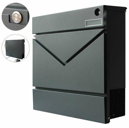 Postaláda csengővel rozsdamentes levélszekrény újságtartóval és névtartóval, divatos megjelenés antr
