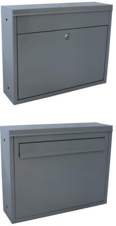 Két oldalról használható postaláda kétoldalú kerítésre szerelhető levélszekrény