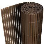Belátásgátló műnád 150x300 cm barna színben kerítés takaró tekercs szélfogó PVC