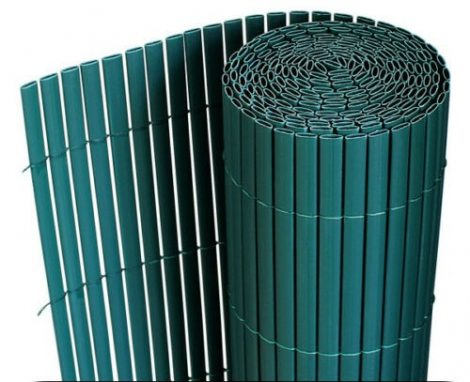 Belátásgátló műnád 150x300 cm zöld színben kerítés takaró tekercs szélfogó PVC