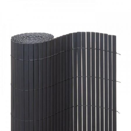 Belátásgátló műnád 200x300 cm szürke színben kerítés takaró tekercs szélfogó PVC