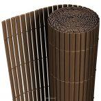 Belátásgátló műnád 90x300 cm barna színben kerítés takaró tekercs szélfogó pvc