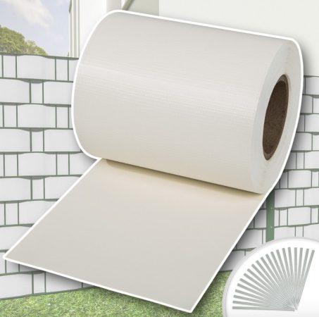 Kerítésbe fűzhető PVC műanyag szalag 70 m hosszú 19 cm széles fehér belátásgátló szélfogó