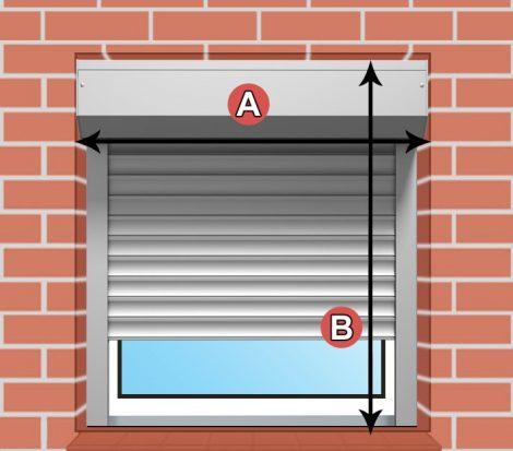 Redőny DIY 120x90 ablakra alumínium fehér szürke drapp szín
