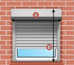 Redőny DIY 60x120 ablakra alumínium fehér szürke drapp szín