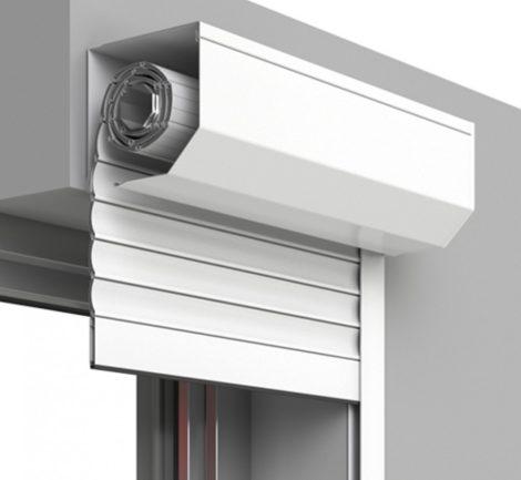 Redőny DIY 90x210 erkélyajtóra műanyag vagy alumínium fehér szürke drapp szín