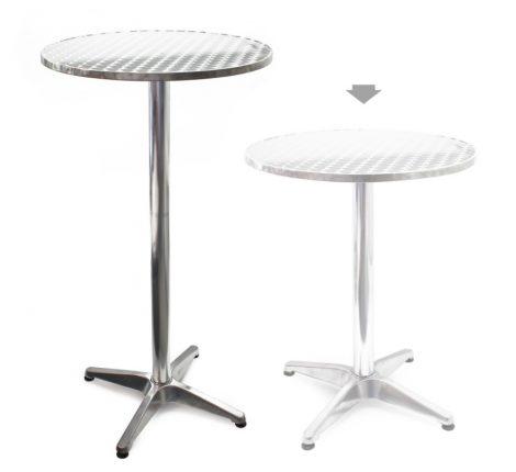 Rendezvény állítható magasságú asztal fém 70-110 cm magas