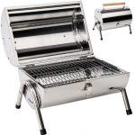 Rozsdamentes hordozható grillsütő 2 oldalas fedeles grill