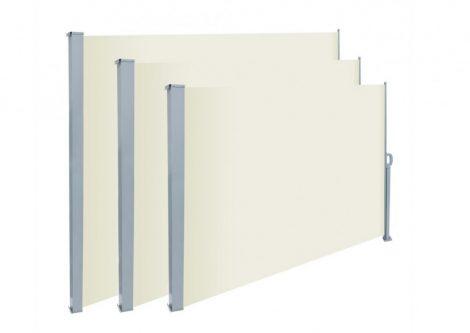 Térelválasztó kihúzható paraván 300x200 cm vízlepergető szövet szélfogó szélvédő tört fehér szín